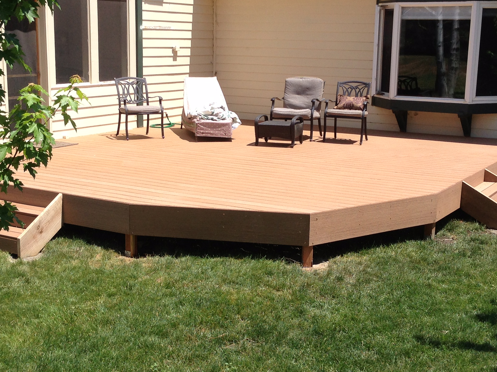 Low Level Deck Timber Tech Decking Deck Tune Up Deck