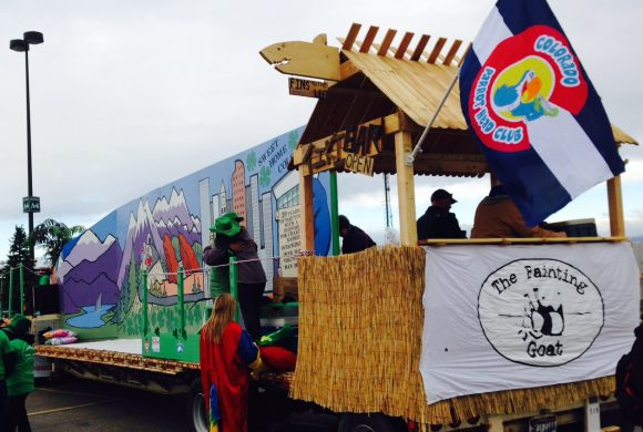 Tiki Bar On St Patrick Day Parade Float Colorado